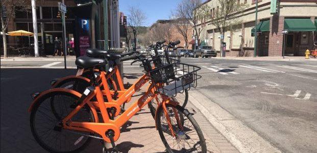 Flagstaff: Orangefarbene Fahrräder